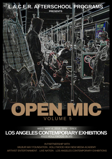 L.A.C.E.R. After School Programs Open Mic Vol 5 Flyer